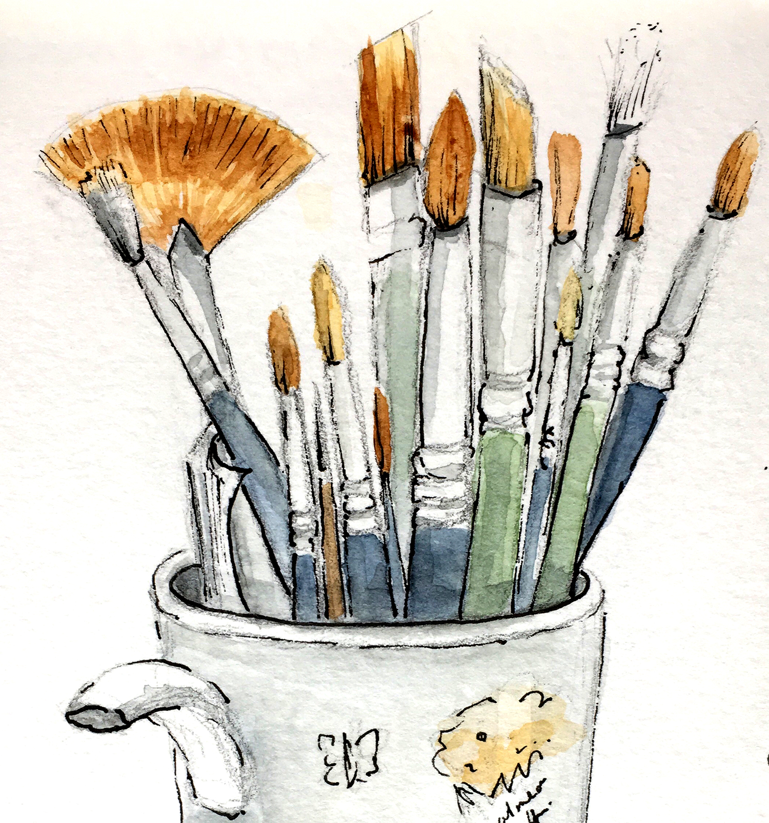 penselen | brushes | aquarel | watercolour